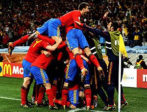 Espanha comemoração gol Villa