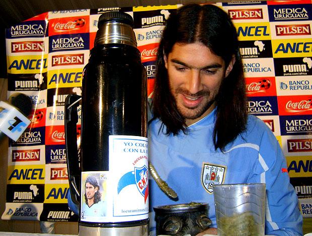 Loco Abreu chimarrão Uruguai