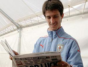 Alvaro Fernandez treino Uruguai