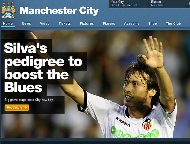 David Silva contratação Manchester City