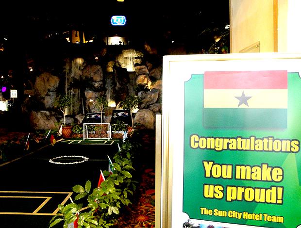 Cartaz hotel seleção Gana Rustemburgo