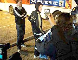 Jornalista Argentino tiram foto de Schweisteiger