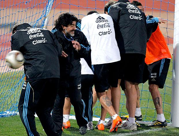 Maradona jogadores Argentina paredão