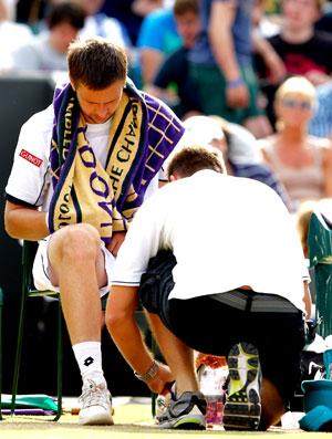 Robin Soderling Wimbledon tênis quartas médico