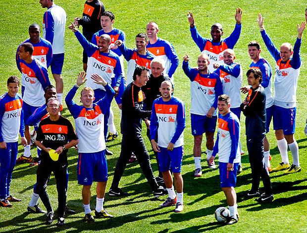 treino Holanda jogadores