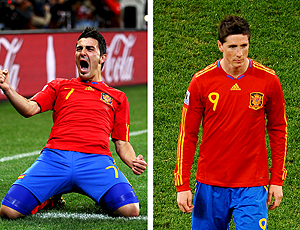 Villa e Torres Espanha copa 2010