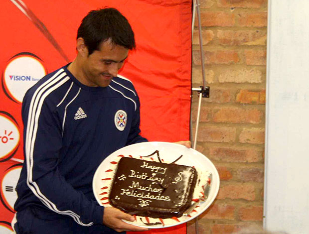 Justo Villar Paraguai aniversário bolo