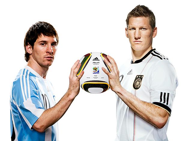 Messi y Schweinsteiger