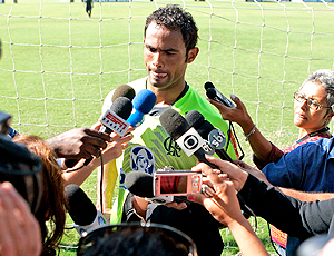 Bruno goleiro Flamengo coletiva