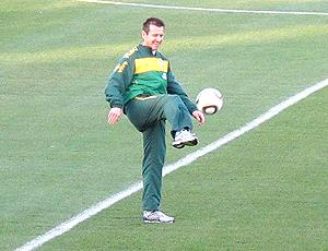 Dunga técnico Brasil  em treino