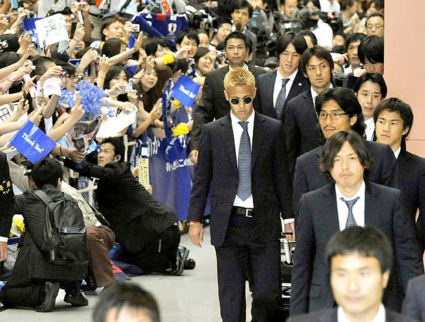 Jogadores chegada Japão