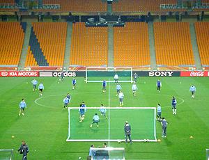 Rachão no treino Uruguai