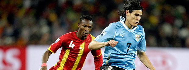 Edison Cavani jogo Uruguai contra Gana