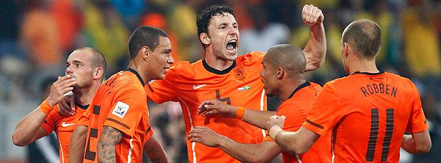 Holanda comemoração jogo Brasil