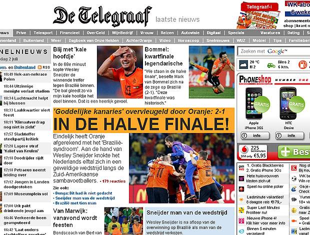 manchete Holanda Telegraaf  vitória