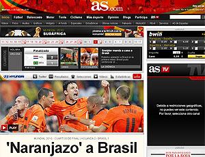 jornal Espanha derrota Brasil reprodução