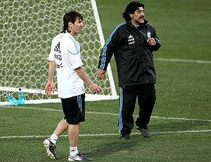 Messi Maradona treino Argentina