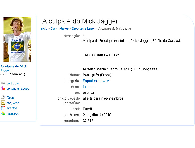 mick jagger orkut