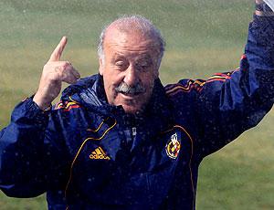 Vicente del Bosque treino Espanha