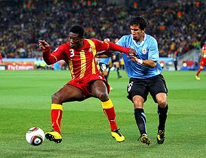 Victorino Gyan uruguai x gana (Foto: Getty Images)