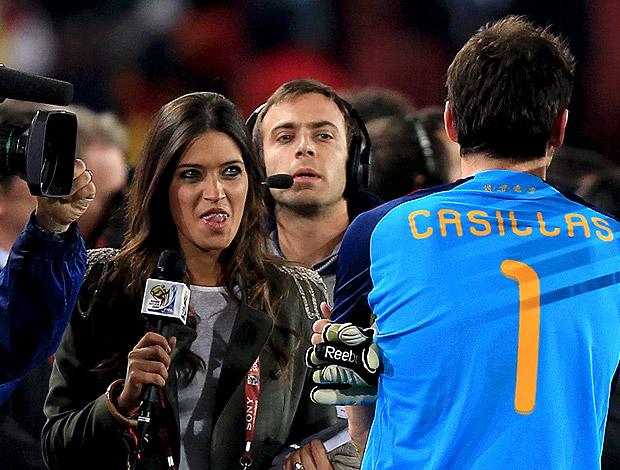 Carbonero entrevista Casillas Paraguai X Espanha