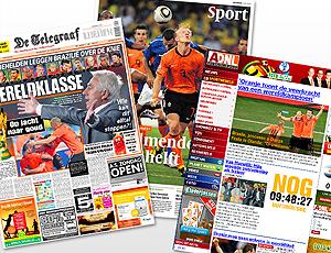 MONTAGEM - capa jornais holanda