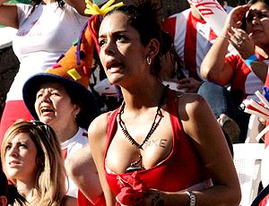 Larissa Riquelme torcida Paraguai