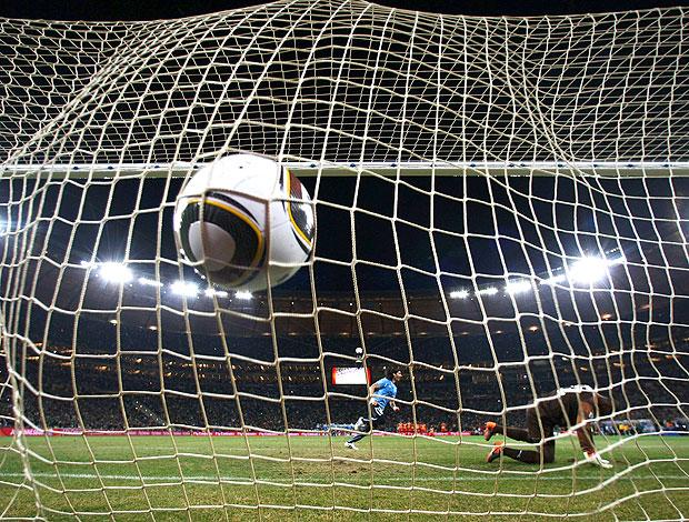 Loco Abreu gol pênalti Uruguai contra Gana
