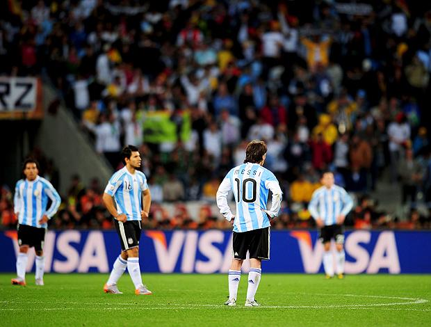 Messi  argentina alemanha desolado