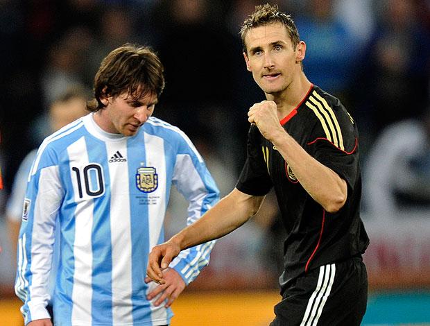 Messi Klose jogo Alemanha x Argentina