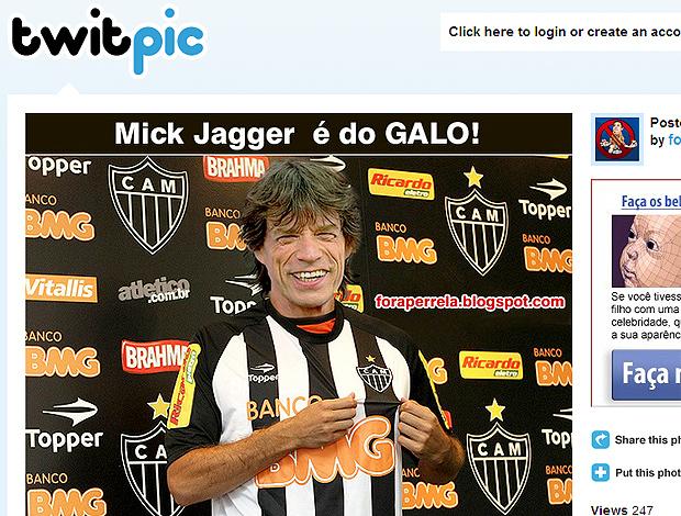 Twitter Mick Jagger camisa Atlético-MG
