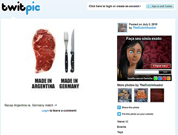 Argentina Twitter talheres carne
