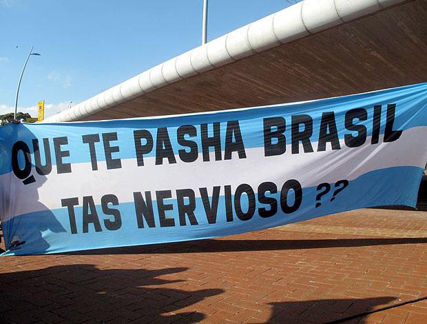 torcida Argentina brincadeira Brasil