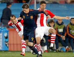 Torres Morel Santana Espanha x Paraguai