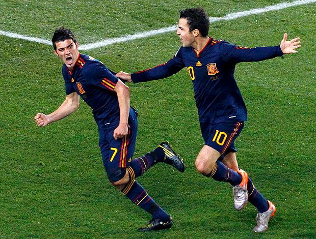 Villa Fabregas gol Espanha