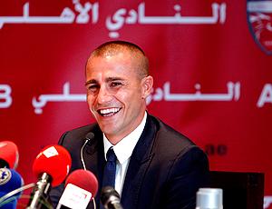 fabio cannavaro apresentado no Al Ahli