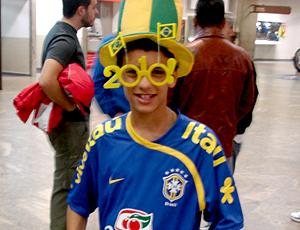 Felipe Melo torcedor desembarque