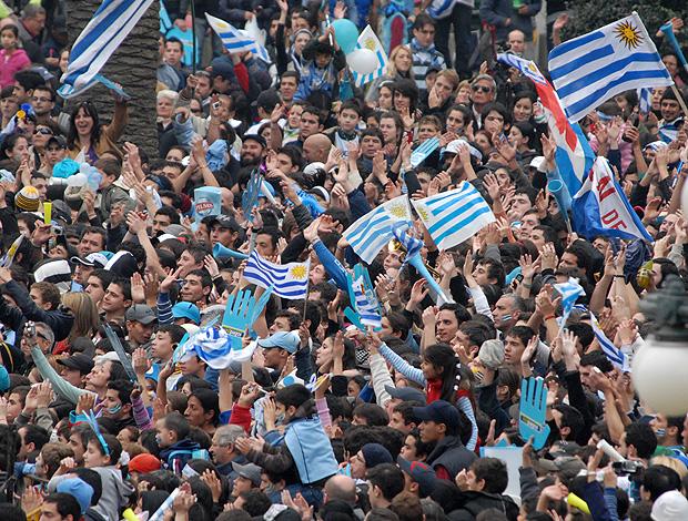 torcida Uruguai comemoração Copa do Mundo