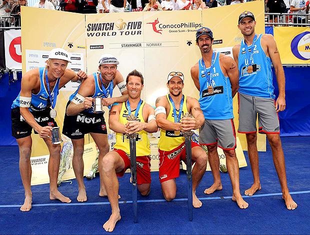 Campeões Grand Slam Noruega vôlei de praia