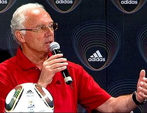 Franz Beckenbauer, em evento promocional da Adidas