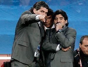 Mancuso e Maradona, seleção da Argentina
