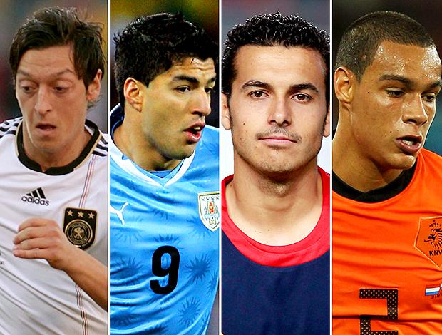 Montagem Ozil, Suarez, Pedro, Van Der Wiel