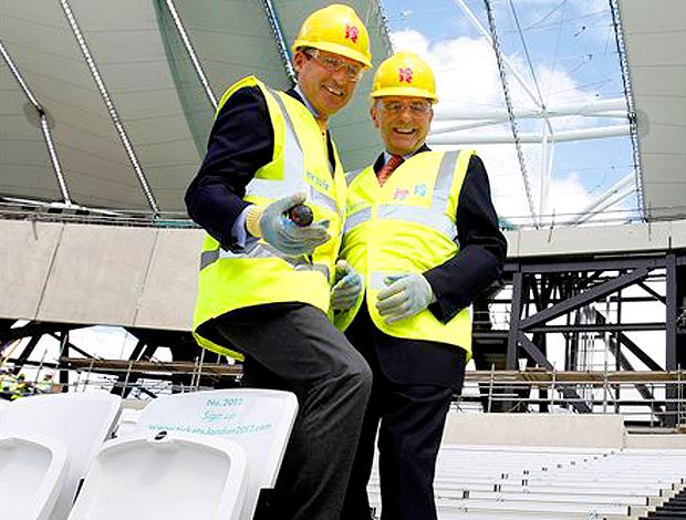 Jacques rogge coi visita estádio londres 2012