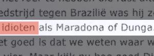 Wesley Sneijder declaração site holanda