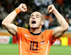 sneijder comemora holanda x uruguai