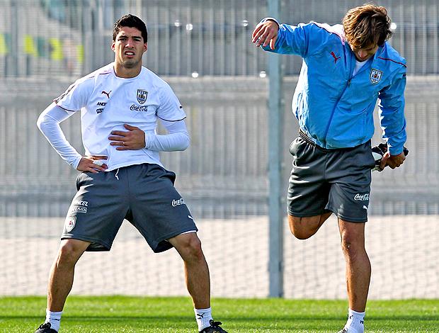 Soarez e Lugano, Uruguai treino