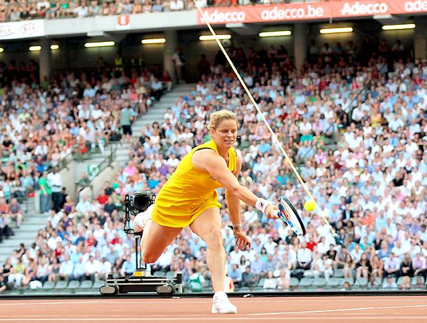 Kim Clijsters jogo recorde de público em Bruxelas