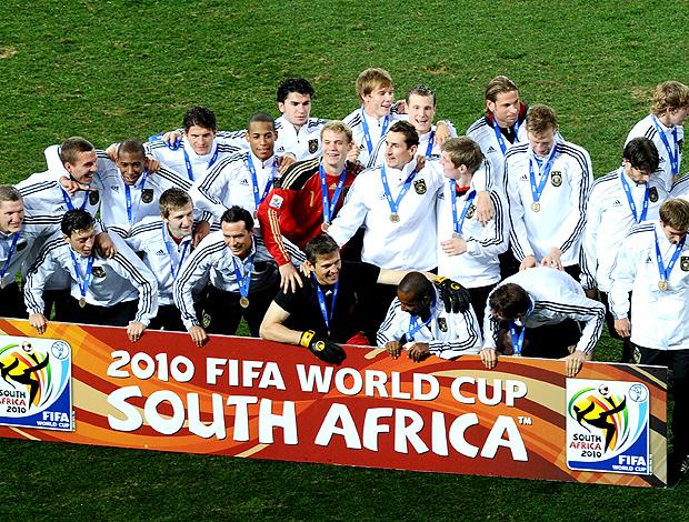 jogadores Alemanha posados terceiro lugar