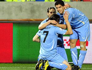Edinson Cavani comemoração Uruguai contra Alemanha