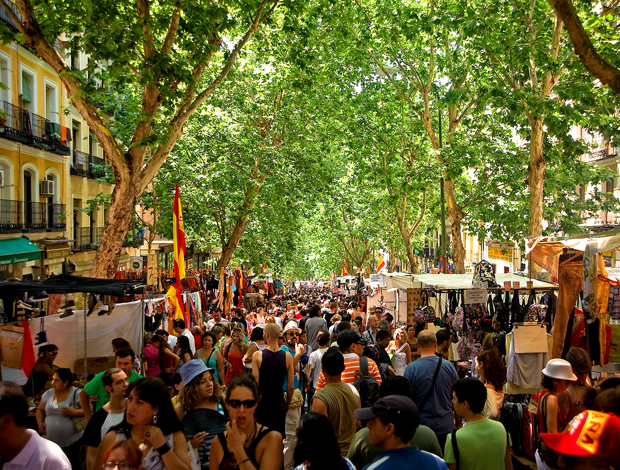 A feira do Rastro em Madrid